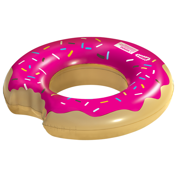 Strawberry-Donut-Tube-Pool-Float